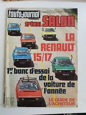 L AUTO JOURNAL N° 20 7 octobre 1971 NUMERO SPECIAL SALON VOITURES renault 15/17