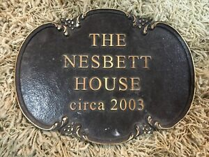 Solid Brass House Plaque