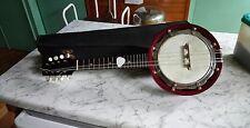 Banjo mandolina por B&s Master Londres & Toronto ha sido re-Piel Morena, Caja Original