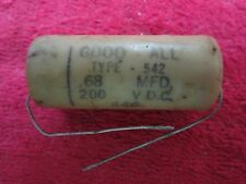 1 VINTAGE NOS GOOD ALL .68 MFD 200VDC WAX CAPACITOR