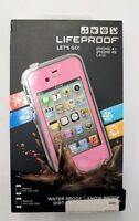 Genuine OEM Lifeproof Case for Apple iPhone 4 4S - Pink/Gray