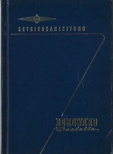 BORGWARD ISABELLA Betriebsanleitung 1960 Bedienungsanleitung Handbuch BA
