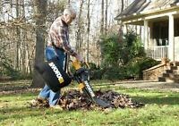 Worx Trivac Collection 3-in-1 Blower Mulcher And Vacuum With Leaf Collection New