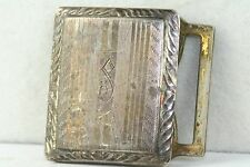 1920'S VINTAGE ANTIQE GIANT GRIP STERLING SILVER LETTER INITIAL S BUCKLE