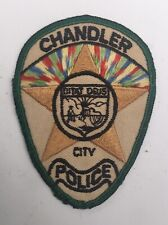 City of Chandler Police, Arizona old cheesecloth shoulder patch