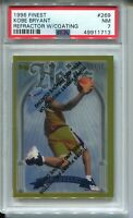1996 Finest Gold w Coating #269 Kobe Bryant Rookie Card RC Graded PSA Nr Mint 7