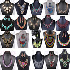Fashion Women Jewelry Pendant Chain Crystal Choker Chunky Statement Bib Necklace