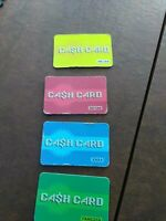 Mall Madness Replacement Game Pieces Parts 4 Cash Cards Hasbro 2004