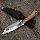 Dagger With Wooden Handle And A Full Tang Stainless Steel Blade