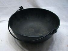 Antique Cast Iron Scotch Mixing Bowl w/Bail Gate Mark #2 Kitchen Pot Tool Kettle