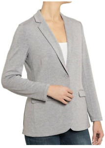 Philosophy Womens One Button Casual Soft Knit Blazer Jacket Choose Size Color