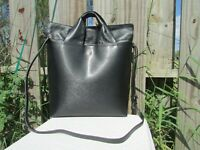 Vince Camuto ASTI Black Saffiano Leather Large Tote Shoulder Crossbody Bag Purse