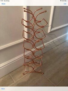 Rose Gold Copper Next Tall Wine Rack