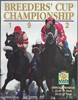 1992 BREEDERS CUP HORSE RACING PROGRAM - A P INDY - GULFSTREAM PARK!