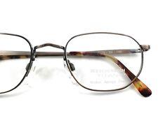 Fassung Rahmenlos Brille Schmal Titan Gestell Braun Nickelfrei Unisex Size M BüGeln Nicht Brillen