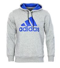Adidas Logo Hoodie Kapuzenpullover S M L Sweatshirt Herren blau grau Essentials