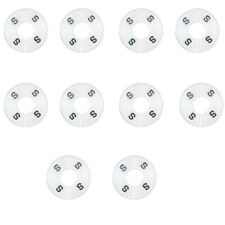 10 Pc S Small White Round Clothing Rack Size Dividers Plastic Hangers Ring
