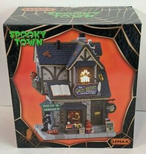 2021 LEMAX SPOOKY TOWN COLLECTION THE GHOST WRITER'S ANTIQUE BOOKSTORE