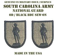 LOT OF 2 US MILITARY PATCH PATCHES SOUTH CAROLINA ARMY NATIONAL GUARD 218TH BDU