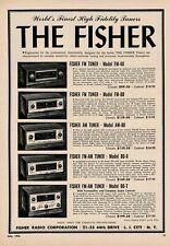 1956 Fisher Tube Amplifier PreAmp Hi-Fi Vintage Print Ad
