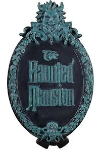 NWT Disney Parks THE HAUNTED MANSION Gate Plaque Logo Sign Ornate Magnet