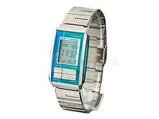 Casio LA201W-2A2 Ladies Stainless Steel FUTURIST Blue Silver LCD Watch NEW