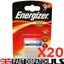 20 X Energizer Litio Cr123 Cr123a 123 Foto Pilas