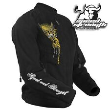 Speed and strength tough love gold and black jacket