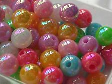 500+ wholesales 6mm Multicolor opaque Round acrylic plastic loose beads