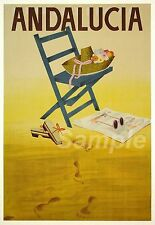 VINTAGE ANDALUCIA SPAIN TRAVEL A3 POSTER PRINT