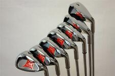 NEW RED X WIDE SOLE IBRID BALANCE IRON SET MENS STIFF FLEX GOLF CLUBS S IRONS 24