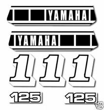YAMAHA 1980 YZ125 COMPLETE DECAL GRAPHIC KIT
