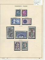 France 1967 MM+Used Stamps On 2 Pages Ref: R6809