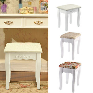 Vintage Dressing Table Stool Padded Piano Chair Makeup Seat Baroque furniture
