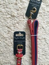 Sophie Allport Small Red Dog Collar and Lead
