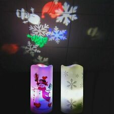 2W LED Projector Lamp Candle Christmas Snowflakes Projection Decor Night Light
