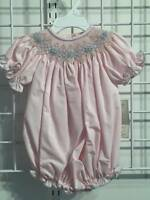Precious Kids Pink & Blue Smocked Bubble  3 or 6 Months