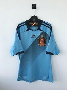 SPAIN NATIONAL TEAM 2012 AWAY FOOTBALL SOCCER SHIRT JERSEY CAMISETA ADIDAS BLUE