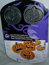 Wilton Cookie Pan  PUMPKIN FACES  6 Cavities   6 Different Designs