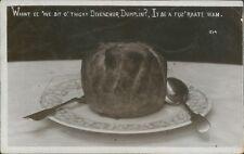 Comic Card Devon Humour Devon Dumpling  Real photo Posted 1909