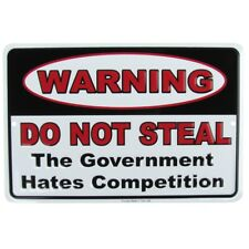 Do Not Steal Funny Tin Warning Sign US Made Novelty Retail Business Wall Decor