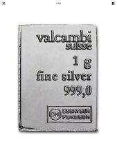 Valcambi Suisse One(1) Gram 999 Silver Bullion CombiBar™ Bar Coin Fractional