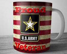 Army VETERANS American Flag Coffee Mug 11 oz Patriotic Mug Military Gift