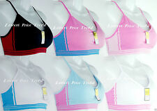 Pack of 6 pcs Sports Bras Lot,One Size(fits34A36A38A32B34B36B38B34C36C38C)L7113S