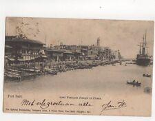 Port Said Quai Francois Joseph & Phare Egypt 1904 Postcard 116b