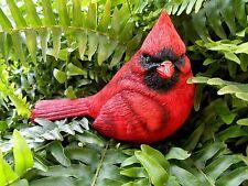 "Large Resin Red Cardinal Bird Figurine 5.5"""