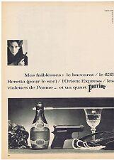 PUBLICITE ADVERTISING 104 1966 PERRIER mes faiblesses baccarat, 6,35 Beretta