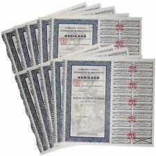 10 X - Cie Agricole Commerciale & Industrielle de BADIKAHA Action DE 100 F 1927