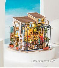 Robotime DIY Miniature House Emily's Flower Shop 3d Wooden Model Kit