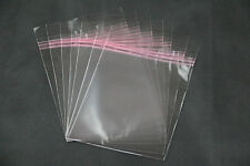 100 Schutzhüllen aus Folie mit Verschluss adhäsiv für DVD-Hüllen 14 mm